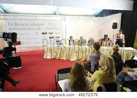 MOSCOW - SEP 6: First National Forum on dressage in Sokolniki on September 6, 2012 in Moscow, Russia.