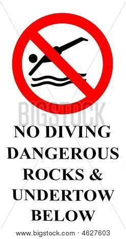 No Diving - Dangerous