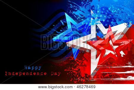 Illustration der abstract American Flag für Independence Day