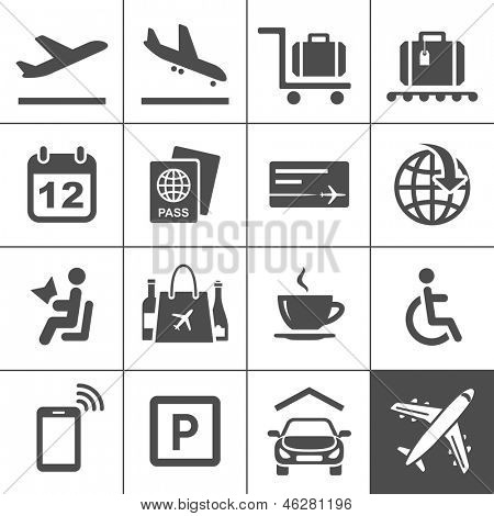 Universal Icon Set. 25 universal icons for website and app. Simplus series. Vector illustration
