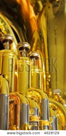 Brass And Chrome On Euphonium