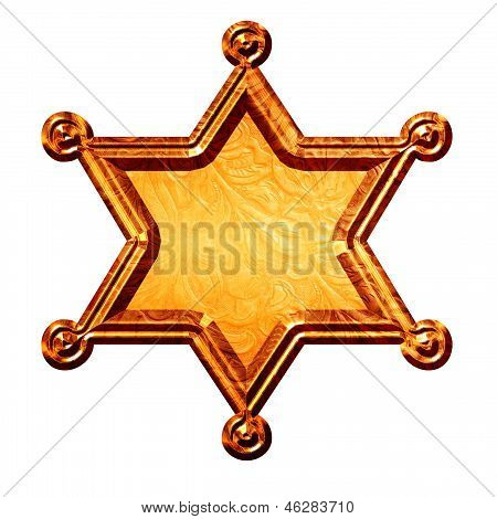 Sheriff Star Logo Bronze