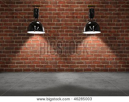 Lampen-Bühne