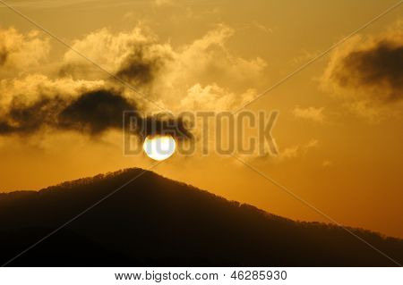 Dark Cloud Mountain Sunrise