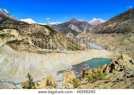 Himalayas Mountain Peaks And Lake