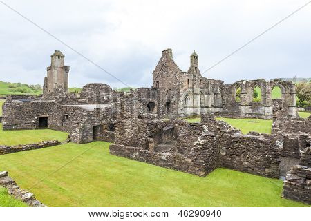 ruins of Crossraguel Abbey, Ayrshire, Scotland
