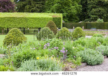 Italienischen Garten von Glamis Castle, Angus, Schottland