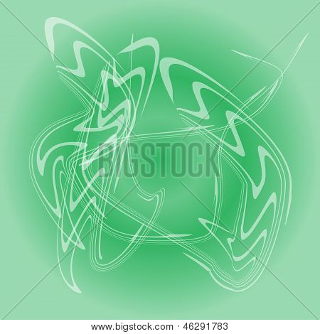 Abstract Smoke Isolated On Green