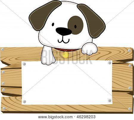 Puppy blank sign board
