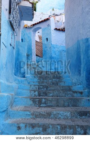Street In Chefchaouen, Morocco