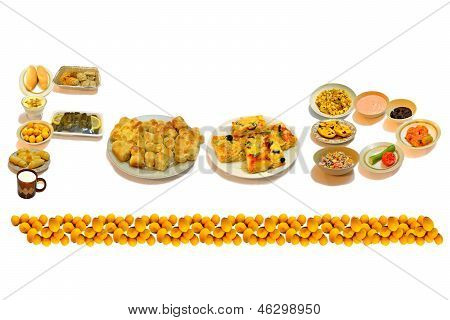 Foods in the form of the word
