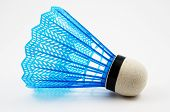 foto of shuttlecock  - blue badminton shuttlecock on a white background - JPG