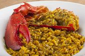 Clawed Lobster With Yellow Rice