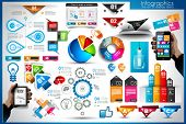 stock photo of graphs  - Infographic elements  - JPG