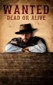 picture of gunslinger  - Bad gunman in the old wild west - JPG