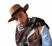 foto of gunslinger  - WOW gunman in the old wild west - JPG