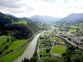 stock photo of small-hawk  - A view of Werfen - JPG