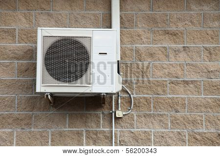 air conditioning system outside a building