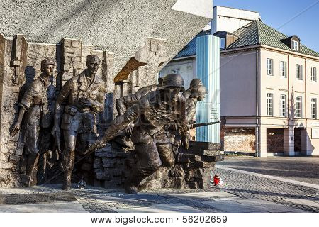 Monument To 1944 Warsaw Uprising In Warsaw