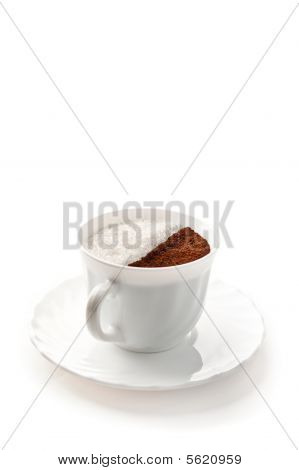 Cup With Coffee And Sugar
