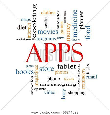 Apps Word Cloud Concept