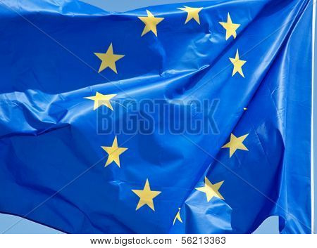 Standard waving flag of the European Union