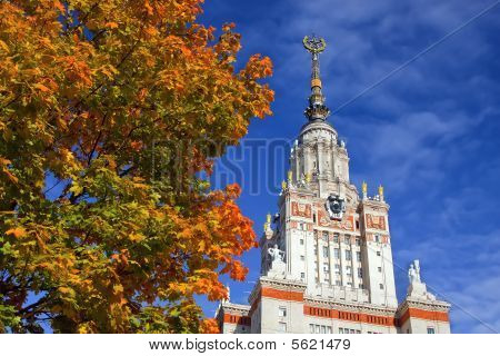 Main building of Moscow State University Moscow Russia