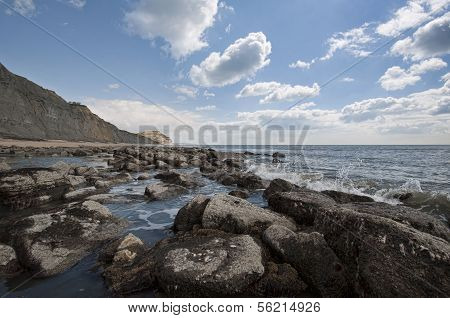 Charmouth Beach In England