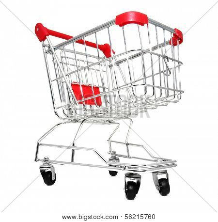 Shopping cart. All on white background.