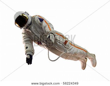 old russian astronaut suit isolated on white