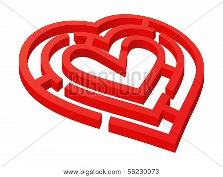 Heart shaped labyrinth.