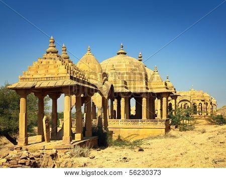 cenotaphs in Bada Bagh - Jaisalmer Rajasthan India