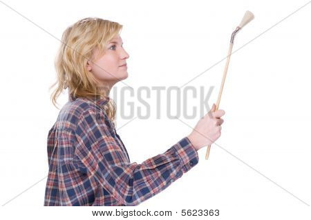 Craftswoman With Brush