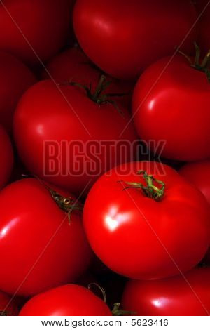 Heap Of Ripe Red Tomatoes