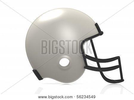 White American football helmet