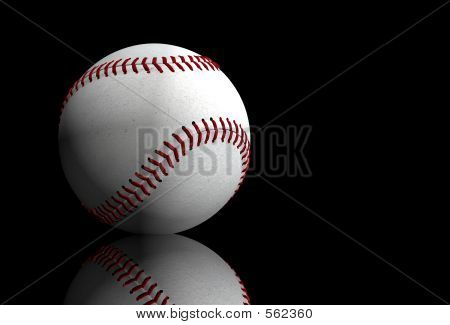 Baseball Over Black