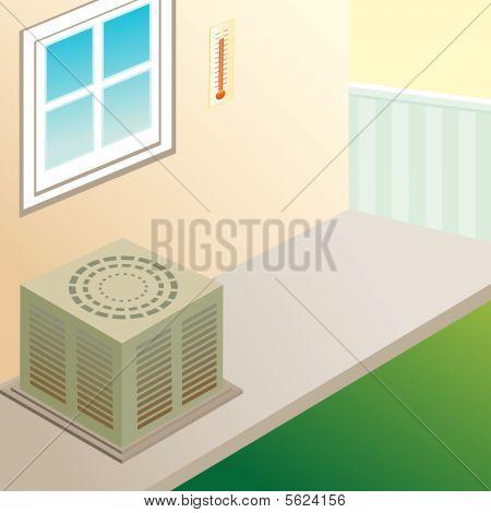 outdoor air conditioner