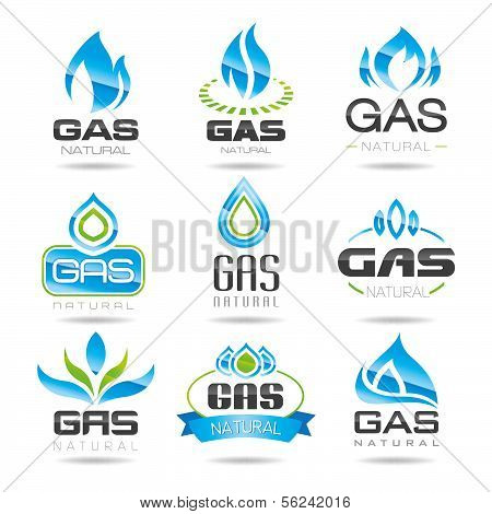 Gas-Industrie-Symbole