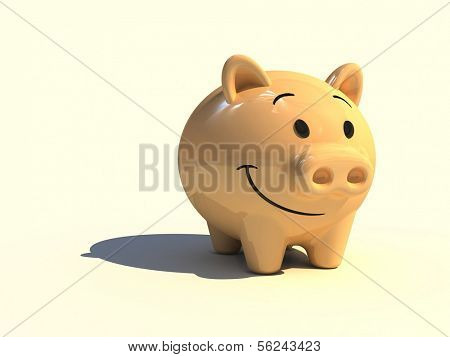 Piggy money-box. Character of financial activity.