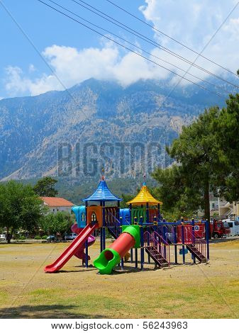 Children's Slide In The Municipal Park Of Ataturk,