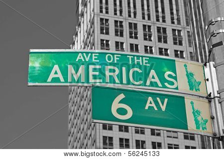 Signs For Sixth Avenue In Nyc