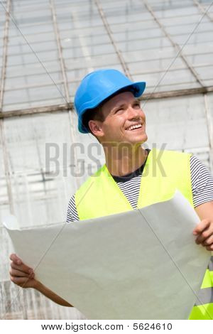 Smiling Young Architect