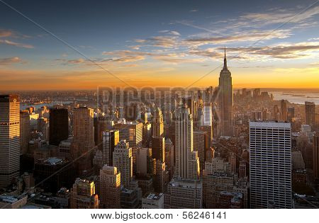 Sunset Over New York City poster