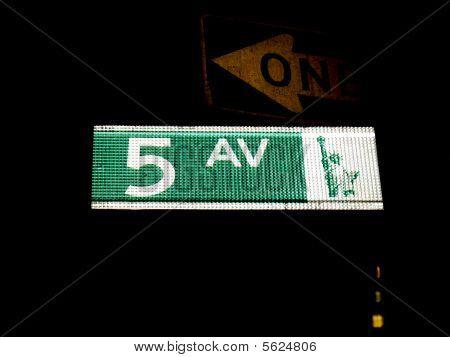Reflective New York City Street Sign