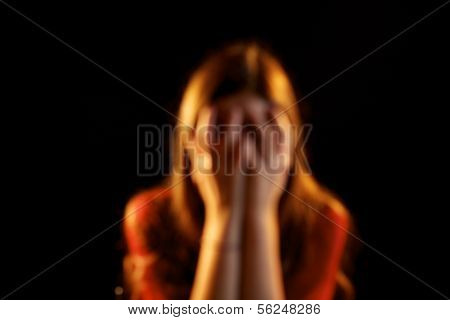Abused Woman Out Of Focus