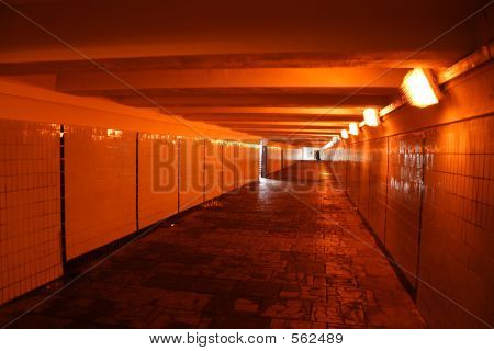 Woman In Underpass