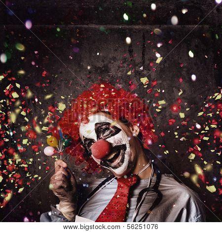 Creepy Birthday Clown At Party Celebration