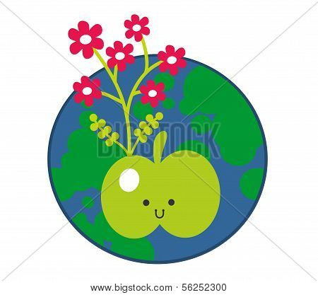 Apple and the Earth icon.