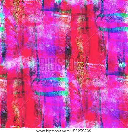 abstract avant-garde red, pink, blue seamless wallpaper watercol