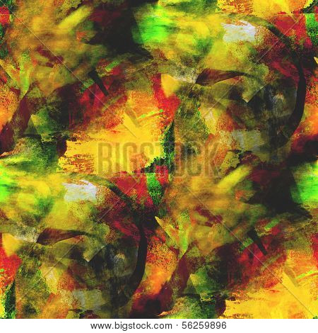 abstract avant-garde yellow, green seamless wallpaper watercolor